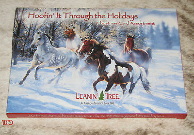 LEANIN TREE Hoofin' It Through the Holidays Christmas Cards~2 ea of 10 designs~