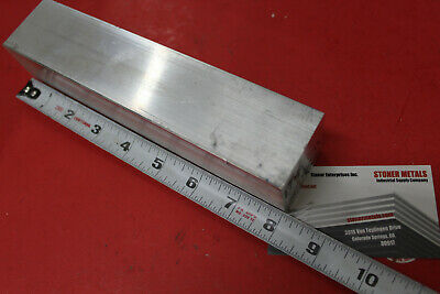 "1-3/4""x 1-3/4"" ALUMINUM SQUARE 6061 FLAT BAR 8"" LONG SOLID Mill Stock"