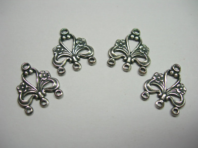Antiqued Silver Plated Victorian Chandelier Stampings Drops Dangles Findings  4