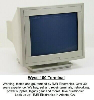 Refurbished Wyse 60 Dumb Terminal 900109-01 RS232 WY-60 CRT Monitor 90 Day
