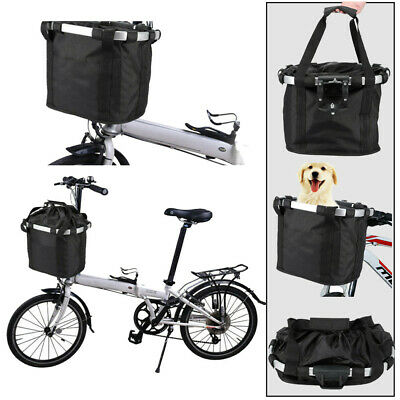 Bicycle Front Basket Removable Waterproof Bike Handlebar Basket Pet Carrier T8V3