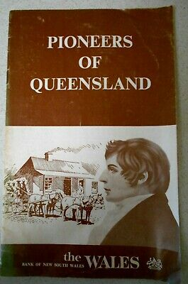 Vintage PIONEERS OF QUEENSLAND, BANK OF NEW SOUTH WALES BOOKLET