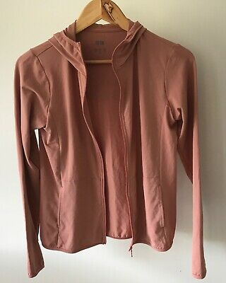 Uniqlo Airism UV Cut Brown Mesh Sport Gym Fitness Jacket  Hoodie Size S As New