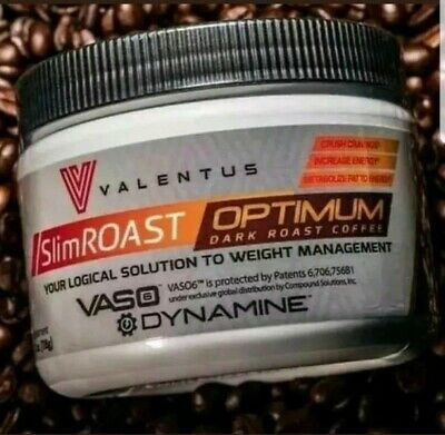 NEW! Valentus SlimROAST Optimum Dark Roast Coffee Dynamine Weightloss