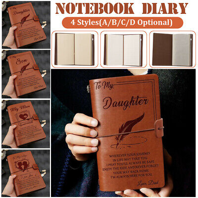 5 Types To My Daughter/Son/Man/Wife Leather Journal Notebook Diary Kid Xmas