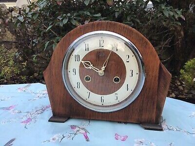 Vintage 1950's Smith Enfield Mantel Clock Full Working Condition