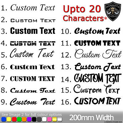 CUSTOM TEXT Personalised Name Lettering Car Van Window Decal Sticker Funny