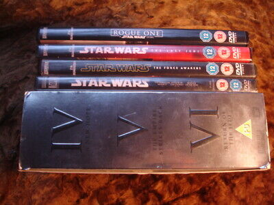 Star Wars:complete:original / Prequel / Force Awakens / Rogue One /Last Jedi Dvd