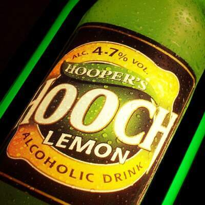 HOOPER'S HOOCH Lemon Originale Leuchtreklame GB 90er PERFEKT Alcoholic Drink BAR