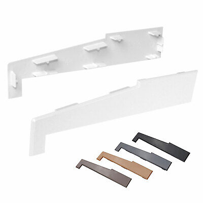 Pair of End Caps for 150mm External Window Door Sill Plastic uPVC Cover
