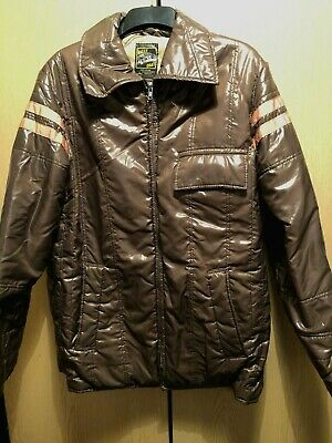 "Original 1970s 42""  (Large) Brown Rally Coat Jacket Excellent Condition"