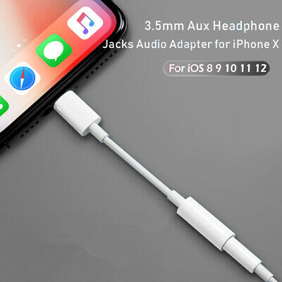 Lightning to 3.5mm Headphone Jack For Apple iPhone 6s 7 8 7 Plus XR X XS Max