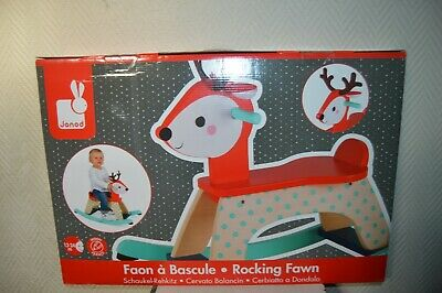 Cheval A Bascule Faon En Bois By Janod Neuf Renne Rocking Fawn Wood 1 A 2 Ans