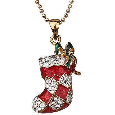 New Kirks Folly Christmas Stocking Stuffer Necklace Goldtone