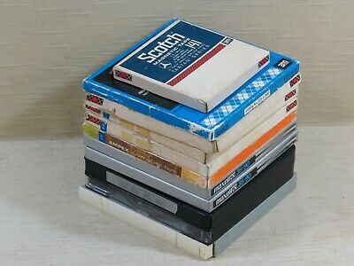 "Lot,10 Miscellaneous 7"" Tape Reels,Boxes,Content/Quality Unknown,Scotch/Maxell"