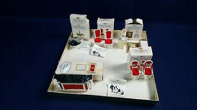 Vintage Lot Petite Princess Dollhouse Furniture Buffet Chair Lyre Table VG-LN