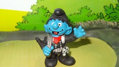 Smurfs Plumber Handy Toolbox Wrench Smurf Rare Vintage Display Toy Figure 20187
