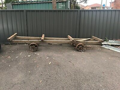 Old Vintage Timber Mill Trolley