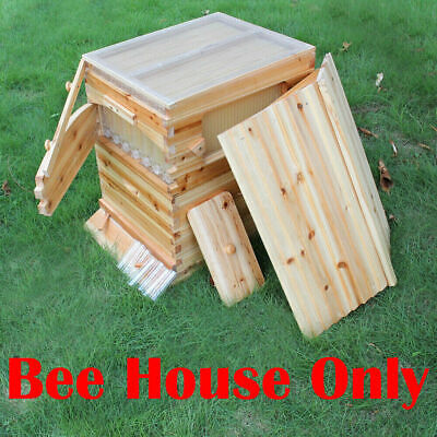 Double-layer Bee hive Super Beekeeping Brood House Box For 7 Auto Beehive Frames