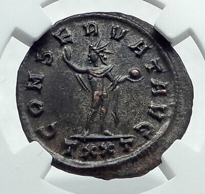 PROBUS Authentic Ancient 276AD Ticinum Genuine Roman Coin SOL SUN GOD NGC i81651