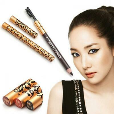 Waterproof Cosmetic Long-Lasting Eyebrow Pencil Makeup Leopard Eyeliner Brush