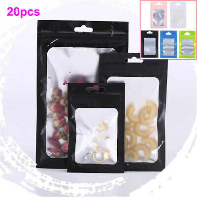 Zipper Self Seal Matte Packaging Bag Ziplock Bags Reclosable Pouches Storage
