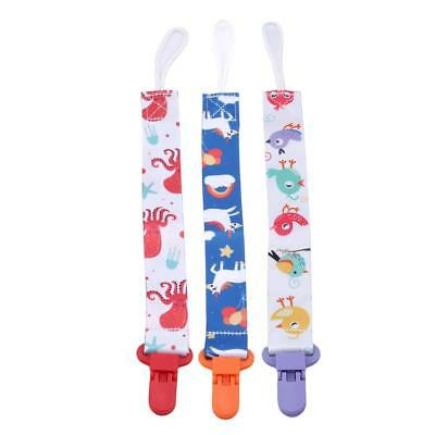 3 PCS Dummy Clip Pacifier Chain Dummy Baby Clips Gift Soother Holder LS3