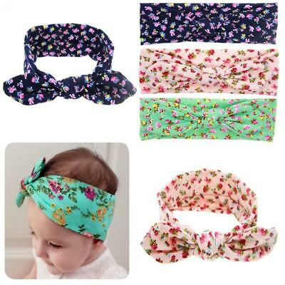 Infant Toddler Baby Girls Kids Flower Knot Headband Turban Head Wrap Bowknot