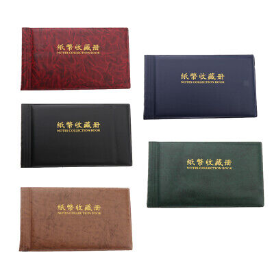 Portable Paper Money Collection Album Banknote Currency 40 Pockets Holder