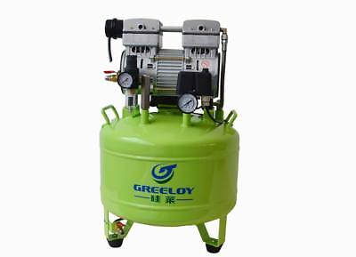 Greeloy Dental Noiseless Oil-Free Oilless Air Compressor Drive two dental units