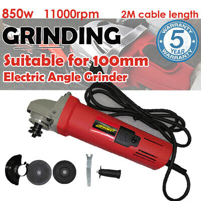 """850w Angle Grinder 100mm 4"""" inch Cutting Grinding Disc Guard & Side Handle 240v"""