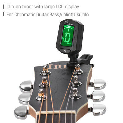 eno ET-33U Portable Clip-On Tuner LCD Display for Guitar Chromatic Ukulele N1T5