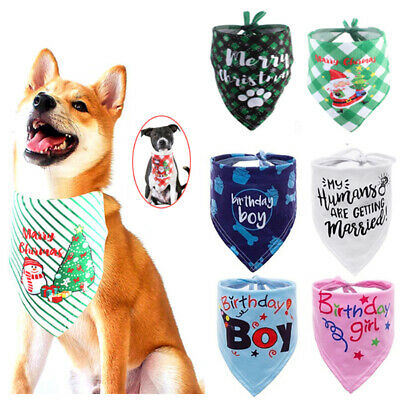 Pet Birthday Scarf Cat Dog Bandana Handkerchiefs Bibs Costume Festival Puppy