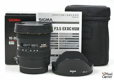 Sigma 10-20mm f/3.5 DC HSM EX Ultrawide zoom lens Canon Fit Boxed Nice! 15309532