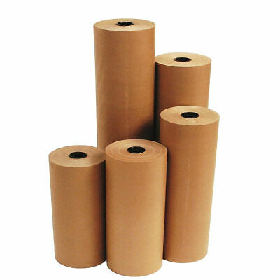 Brown Kraft Parcel Paper For Wrapping And Packing Strong Rolls.