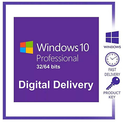 MS Windows 10 Pro Professional 32/64bit  License Key Product