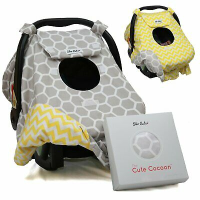 Sho Cute - [Reversible] Carseat Canopy   All Season Baby Car Seat Cover Boy or