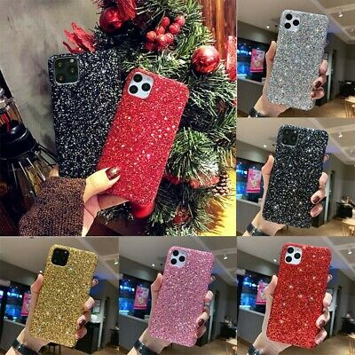Bling For  iPhone 11 X Sparkle Cover Pro XS XR Max 8 Christmas Glitter Hard Case