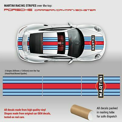 Martini Racing Stripes Over the TOP for Porsche Carrera / Cayman / Boxster