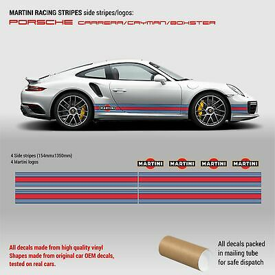 Martini Racing Side Stripes for Porsche Carrera / Cayman / Boxster