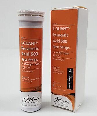 J-QUANT Peracetic 500 Test Strips - 100/pk