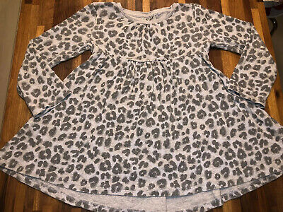 Next Gorgeous girls Leopard Animal Print Tunic Top Dress Age 4-5 Good Condition