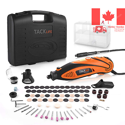 Multi-Functional Rotary Tool Kit with 80 Accessories and 4 Attachments Variab...