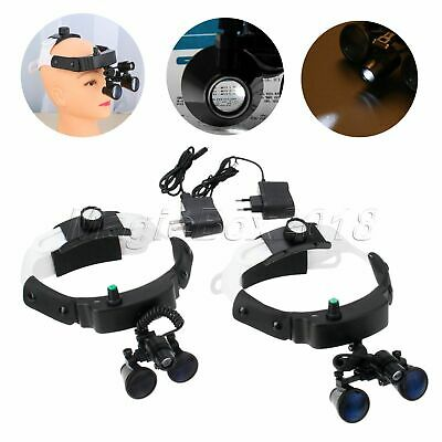 2.5/3.5 Binocular Loupes Magnifier + LED HeadLight With Battery Dental Medical