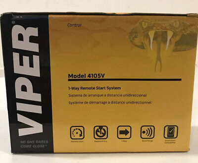 Viper 4105V Remote Car Starter 1-Way TWO 4-Button Remotes Keyless BRAND NEW