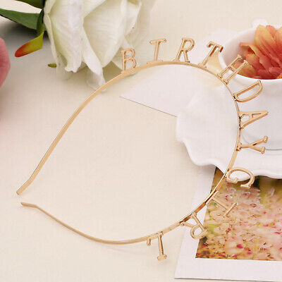 Korean Fashion Tiara Headband Baby Girls BIRTHDAY Hairband Headwear Ornament