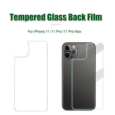For iPhone 11 Pro Max Rear Tempered Glass Protective Film Back Cover Protector