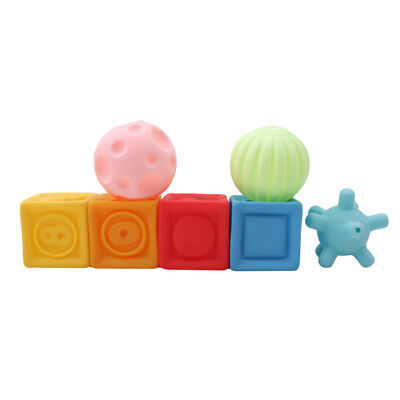 Popular Building Block Ball Toys Floating Squeeze Sound Squeaky Baby Toys CB
