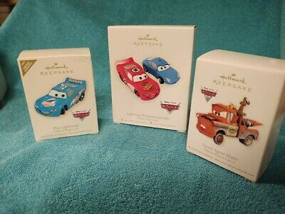 Hallmark Disney Pixar Cars Ornaments Lot of 3 all Mint and Retired