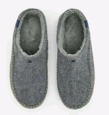 Joules Mens Felt Mule Slippers GREY MARL Size Adult 10 BNWT